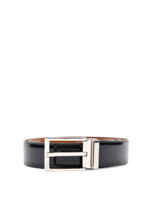 Salvatore Ferragamo: belts - Reversible brushed leather belt