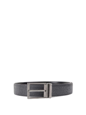Salvatore Ferragamo: belts - Reversible leather belt