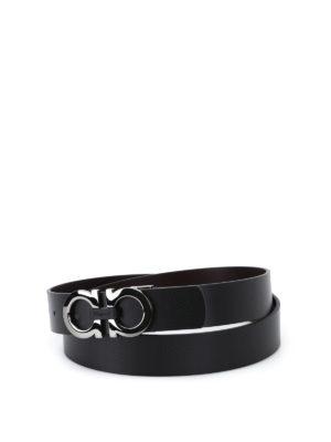 Salvatore Ferragamo: belts - Smooth leather reversible belt
