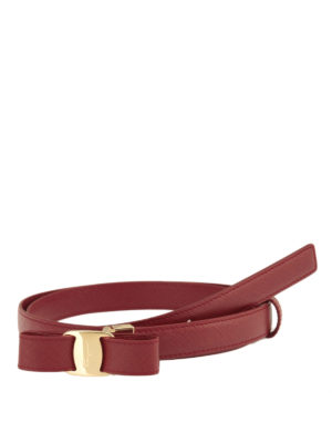 Salvatore Ferragamo: belts - Vara bow detail saffiano belt