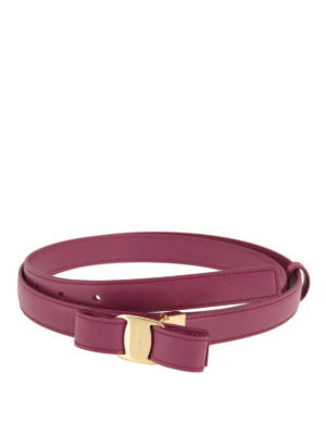 Salvatore Ferragamo: belts - Vara bow detail saffiano belt