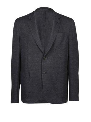 SALVATORE FERRAGAMO: giacche blazer - Blazer destrutturato in jersey di lana