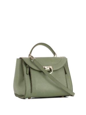 Salvatore Ferragamo: bowling bags online - Sofia Rainbow small green handbag