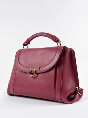 Salvatore Ferragamo: bowling bags online - Soft Sofia leather handbag