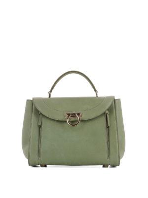 Salvatore Ferragamo: bowling bags - Sofia Rainbow small green handbag