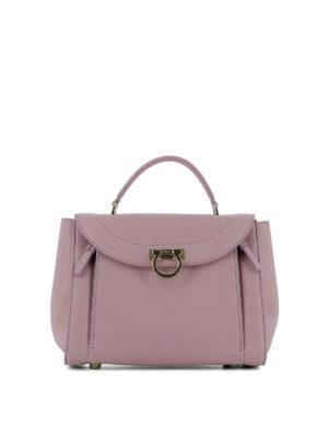 Salvatore Ferragamo: bowling bags - Sofia Rainbow small pink handbag