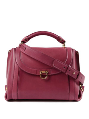 Salvatore Ferragamo: bowling bags - Soft Sofia leather handbag