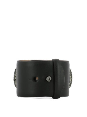 Salvatore Ferragamo: Bracelets & Bangles online - Double Gancio leather bangle