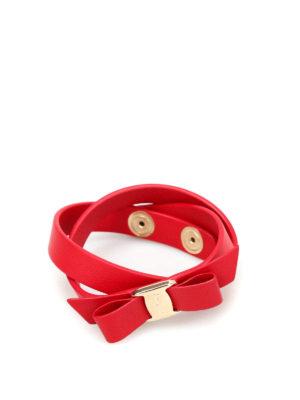 Salvatore Ferragamo: Bracelets & Bangles - Vara bow double wrap bracelet