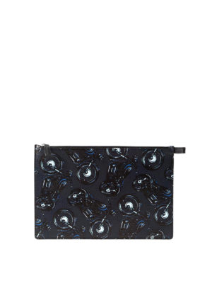 Salvatore Ferragamo: Cases & Covers - Motorcycle print leather pouch