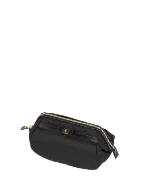 Salvatore Ferragamo: Cases & Covers online - Bow detailed nylon small pouch