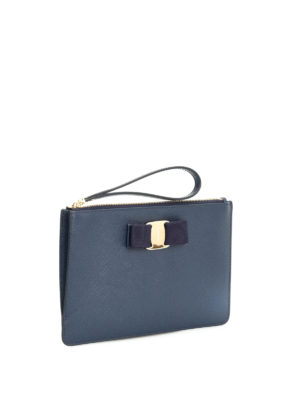 Salvatore Ferragamo: Cases & Covers online - Saffiano Vara pouch