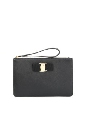 Salvatore Ferragamo: Cases & Covers - Saffiano Vara pouch
