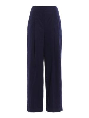 Salvatore Ferragamo: casual trousers - Flared cotton trousers