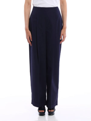 Salvatore Ferragamo: casual trousers online - Flared cotton trousers