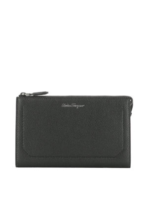 Salvatore Ferragamo: clutches - Firenze leather clutch