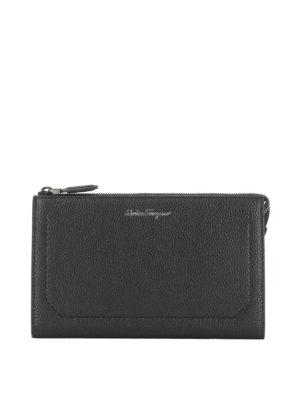Salvatore Ferragamo: clutches - Firenze leather clutch