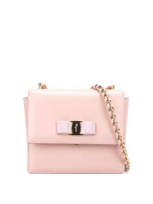 Salvatore Ferragamo: clutches - Ginny leather clutch