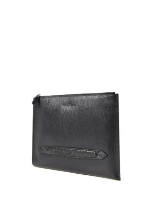 Salvatore Ferragamo: clutches online - Revival 3.0 calf leather clutch