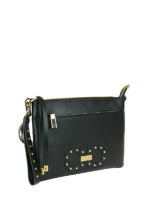 Salvatore Ferragamo: clutches online - Studded double Gancio clutch