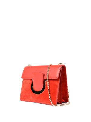 Salvatore Ferragamo: clutches online - Thalia leather and suede clutch
