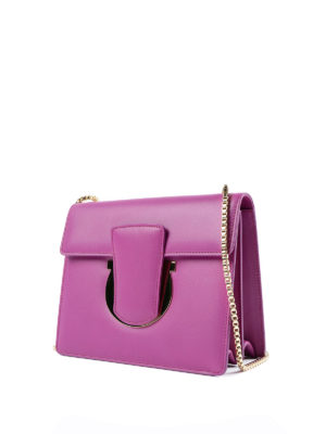 Salvatore Ferragamo: clutches online - Thalia leather clutch