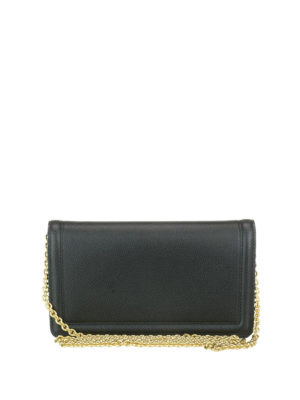 Salvatore Ferragamo: clutches online - Vara leather chain clutch