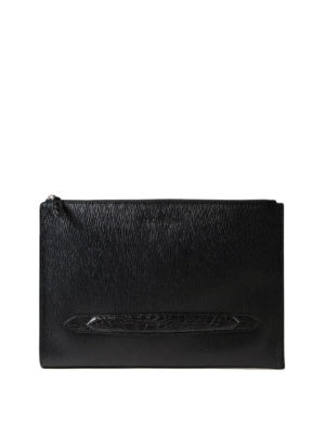 Salvatore Ferragamo: clutches - Revival 3.0 calf leather clutch