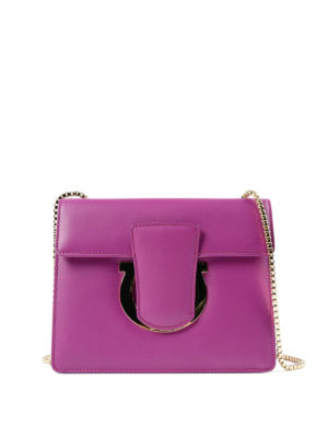 Salvatore Ferragamo: clutches - Thalia leather clutch