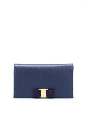 Salvatore Ferragamo: clutches - Vara Bow saffiano clutch
