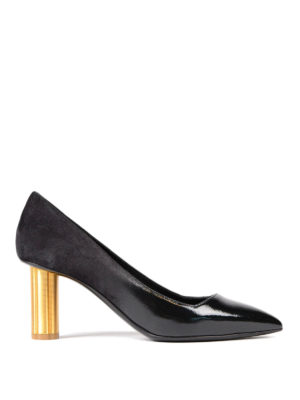 Salvatore Ferragamo: court shoes - Bari flower heel pumps