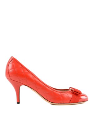 SALVATORE FERRAGAMO: scarpe décolleté - Décolleté Carla 70 in pelle trapuntata