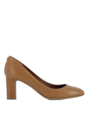 Salvatore Ferragamo: court shoes - Chiusi wide heel leather pumps