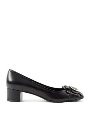 Salvatore Ferragamo: court shoes - Double Gancio leather pumps