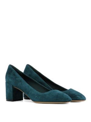 Salvatore Ferragamo: court shoes online - Arezzo suede pumps