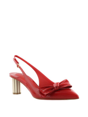 Salvatore Ferragamo: court shoes online - Aulla 55 red patent slingbacks
