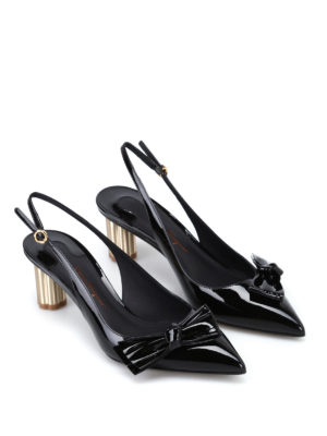 Salvatore Ferragamo: court shoes online - Aulla55 black patent slingbacks