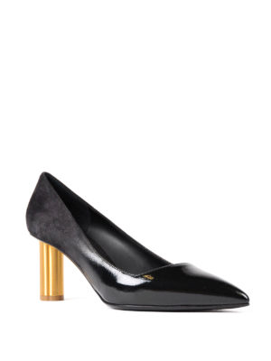 Salvatore Ferragamo: court shoes online - Bari flower heel pumps
