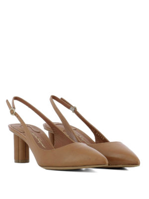 Salvatore Ferragamo: court shoes online - Buti 55 pointy leather slingbacks