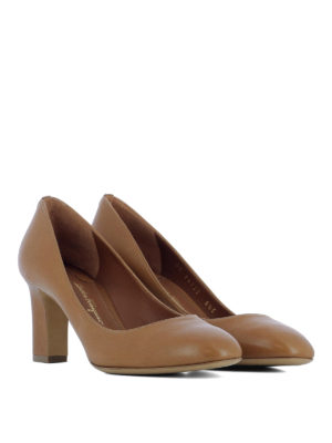 Salvatore Ferragamo: court shoes online - Chiusi wide heel leather pumps
