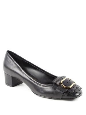 Salvatore Ferragamo: court shoes online - Double Gancio leather pumps