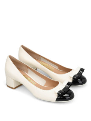 Salvatore Ferragamo: court shoes online - Elea bicolour court shoes