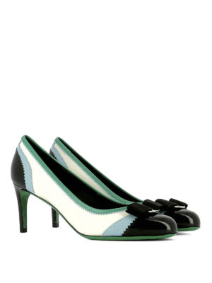 Salvatore Ferragamo: court shoes online - Eloisa zigzag leather pumps