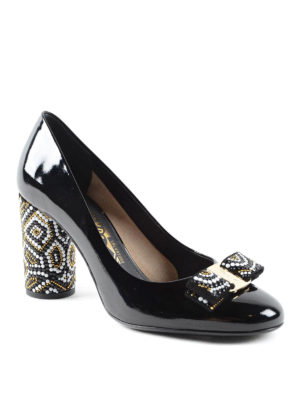 Salvatore Ferragamo: court shoes online - Vara bow patent leather pumps