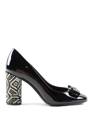Salvatore Ferragamo: court shoes - Vara bow patent leather pumps