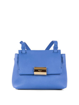 Salvatore Ferragamo: cross body bags - Gancio clip detailed leather bag