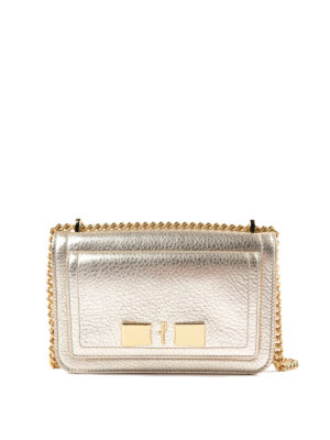 Salvatore Ferragamo: cross body bags - Ginevra metallic leather small bag