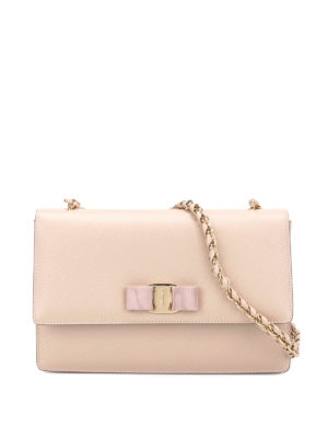Salvatore Ferragamo: cross body bags - Ginny leather cross body bag