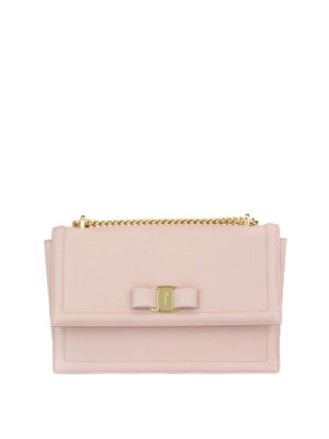 Salvatore Ferragamo: cross body bags - Ginny light pink leather bag