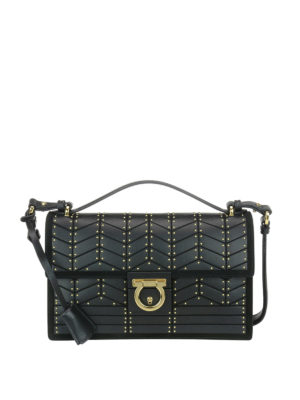 Salvatore Ferragamo: cross body bags - Leather medium cross body bag
